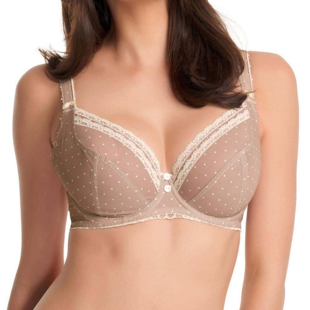 Freya Lacey U/W Balcony Bra Large Cups, Cafe Latte