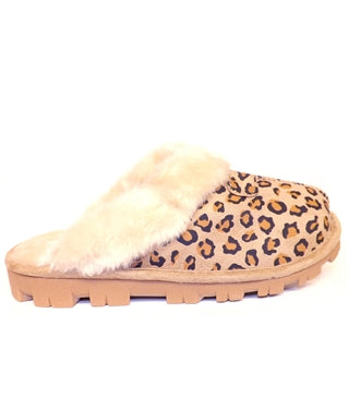 Ladies Slippers Marni, Leopard Light Brown