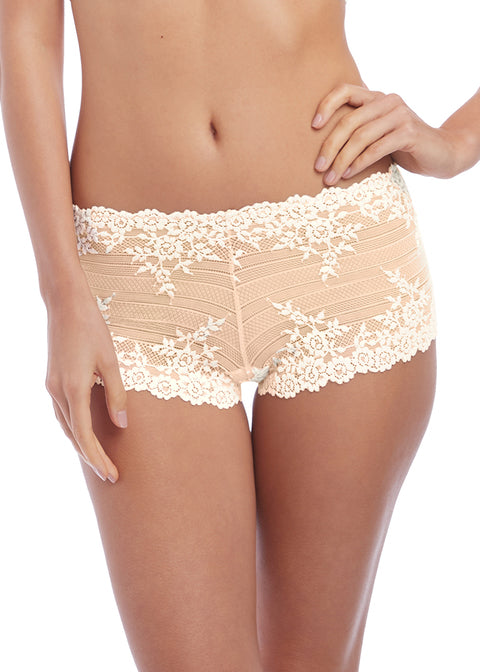 Wacoal Embrace Lace Boy Short, Naturally Nude / Ivory