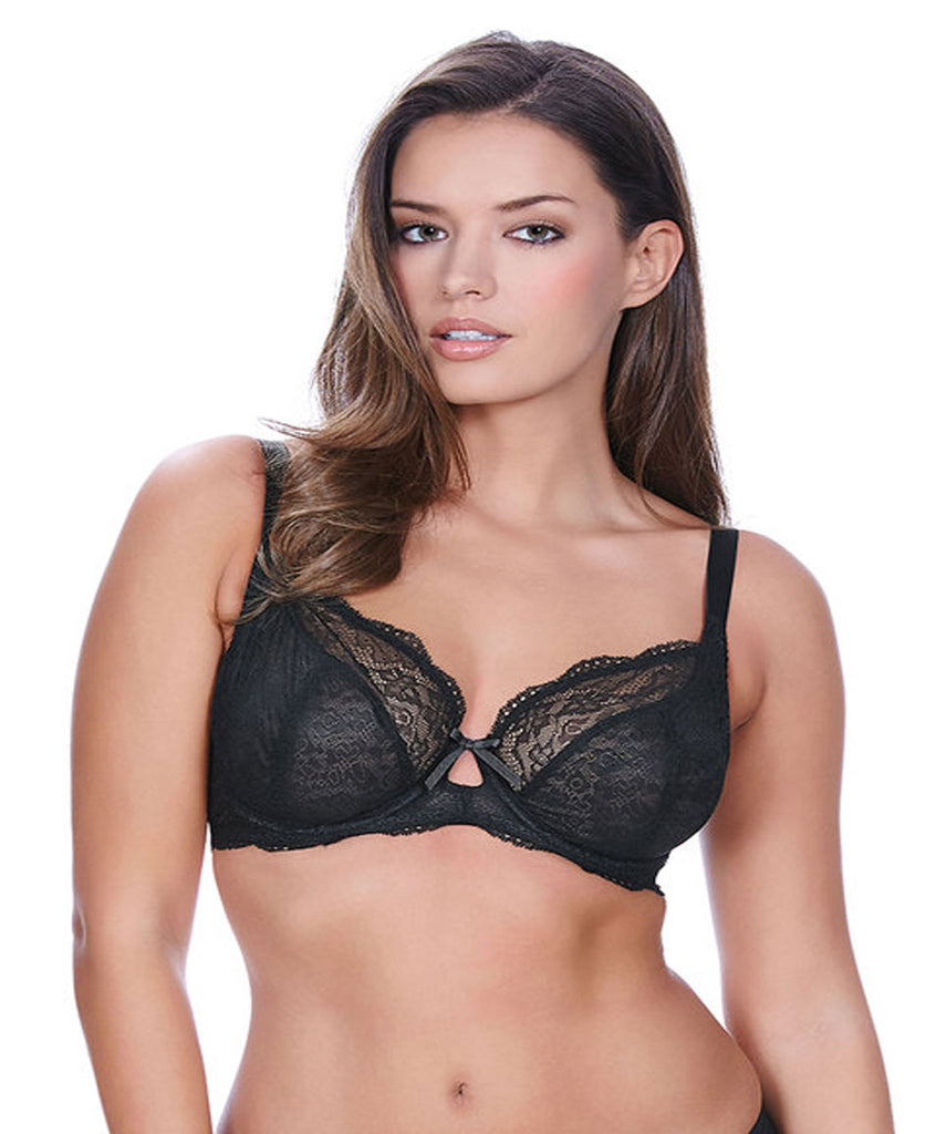 Freya Fancies Underwire Plunge Bra in Black