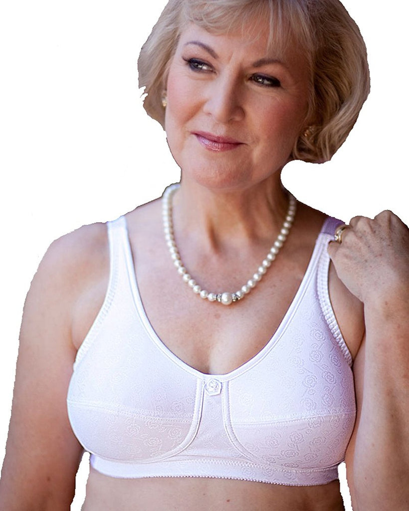American Breast Care Rose Contour Bra, White