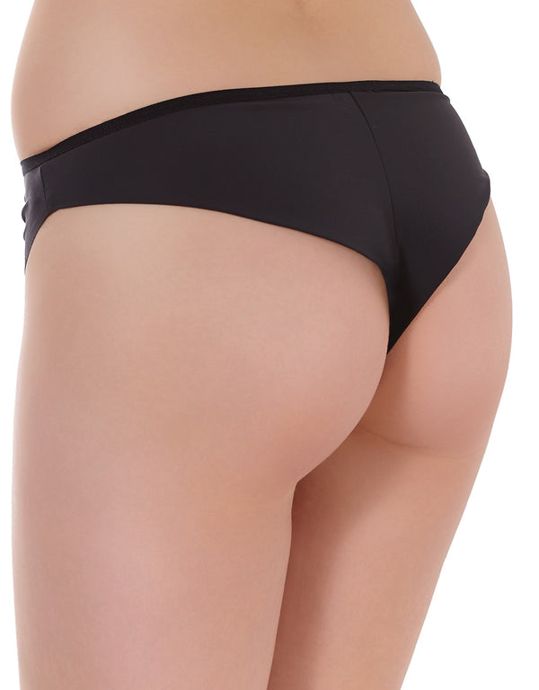 Freya Muse Brazilian Thong Panties, Black