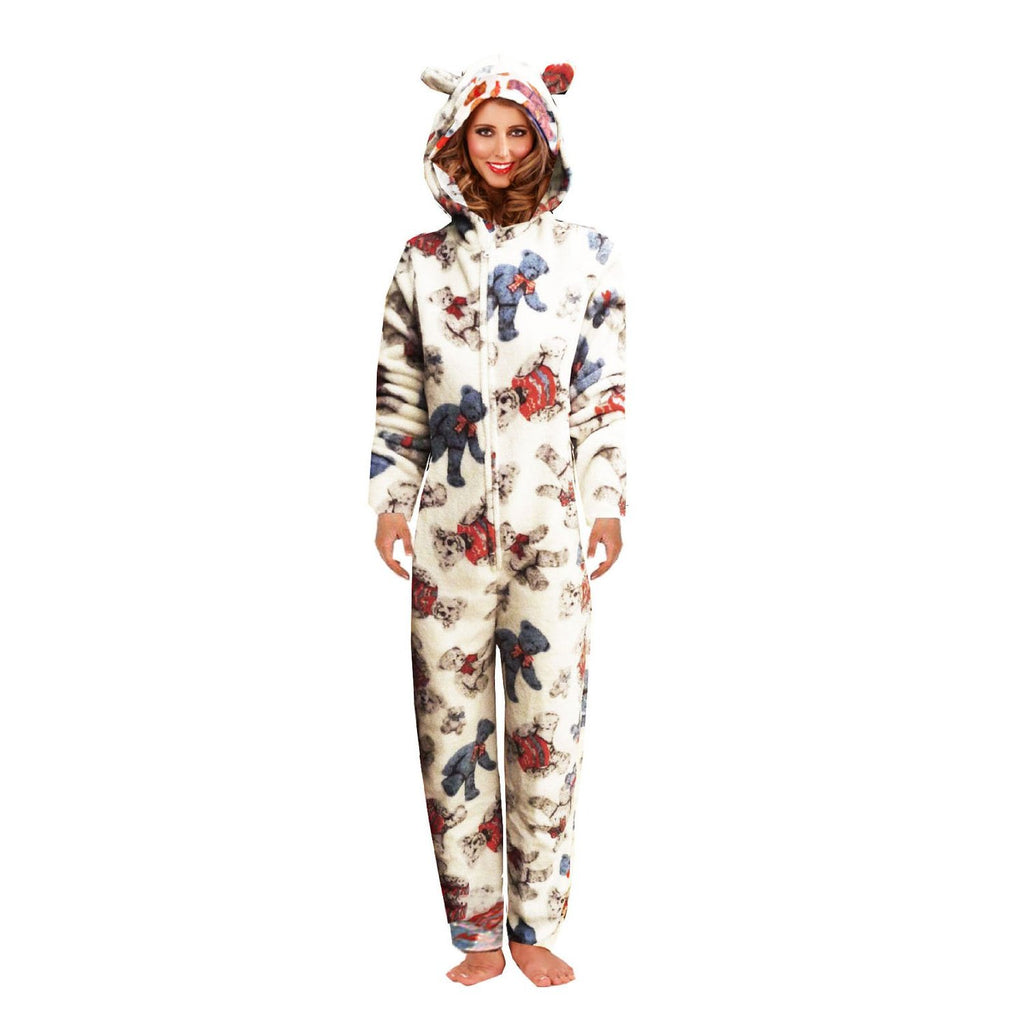 Loungable Boutique Teddy Bear Onesie Blue Loungeable Boutique Teddy Bear Onesie Blue