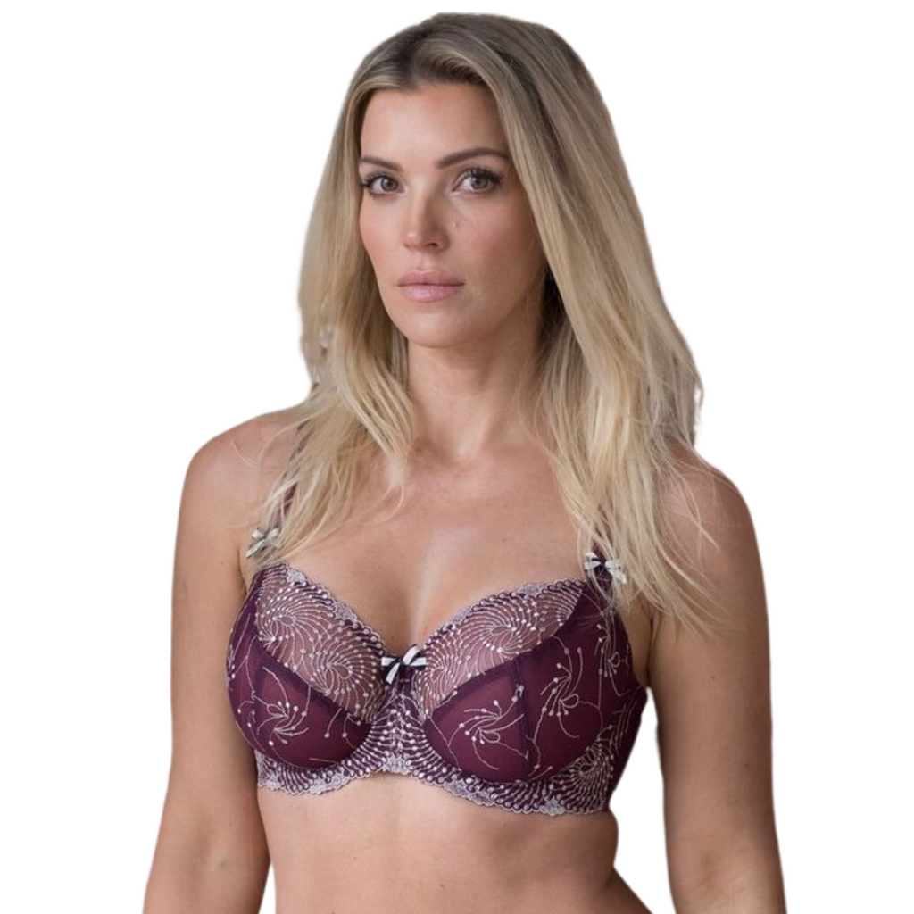 Fit Fully Yours Nicole See-Thru Underwire Lace Bra, Blossom Lilac