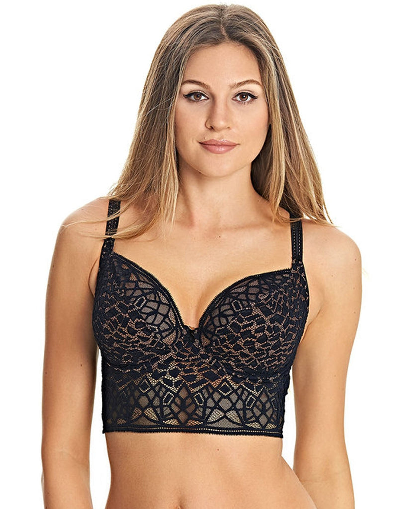 Freya Soiree Lace Underwire Bralette, Black