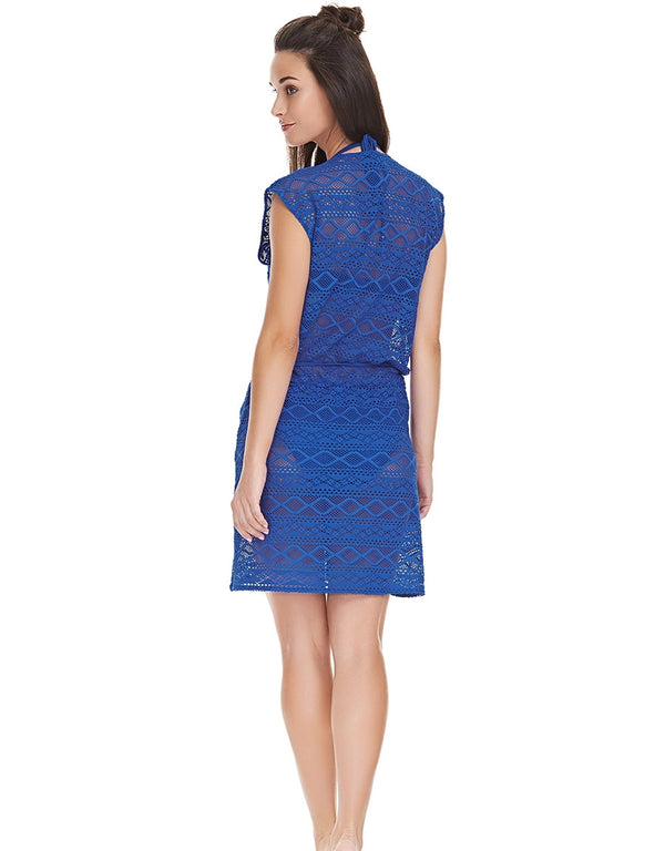Freya Sundance Cross Over Dress, Cobalt