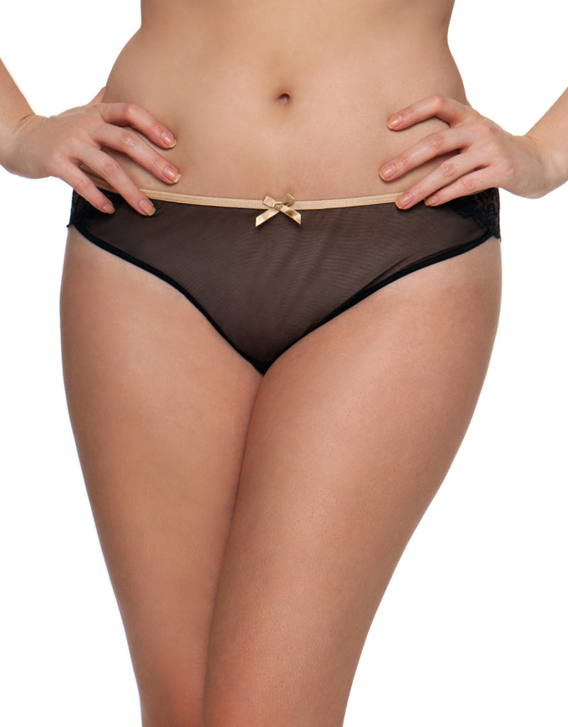 Curvy Kate Ellace Brazilian Panties, Black