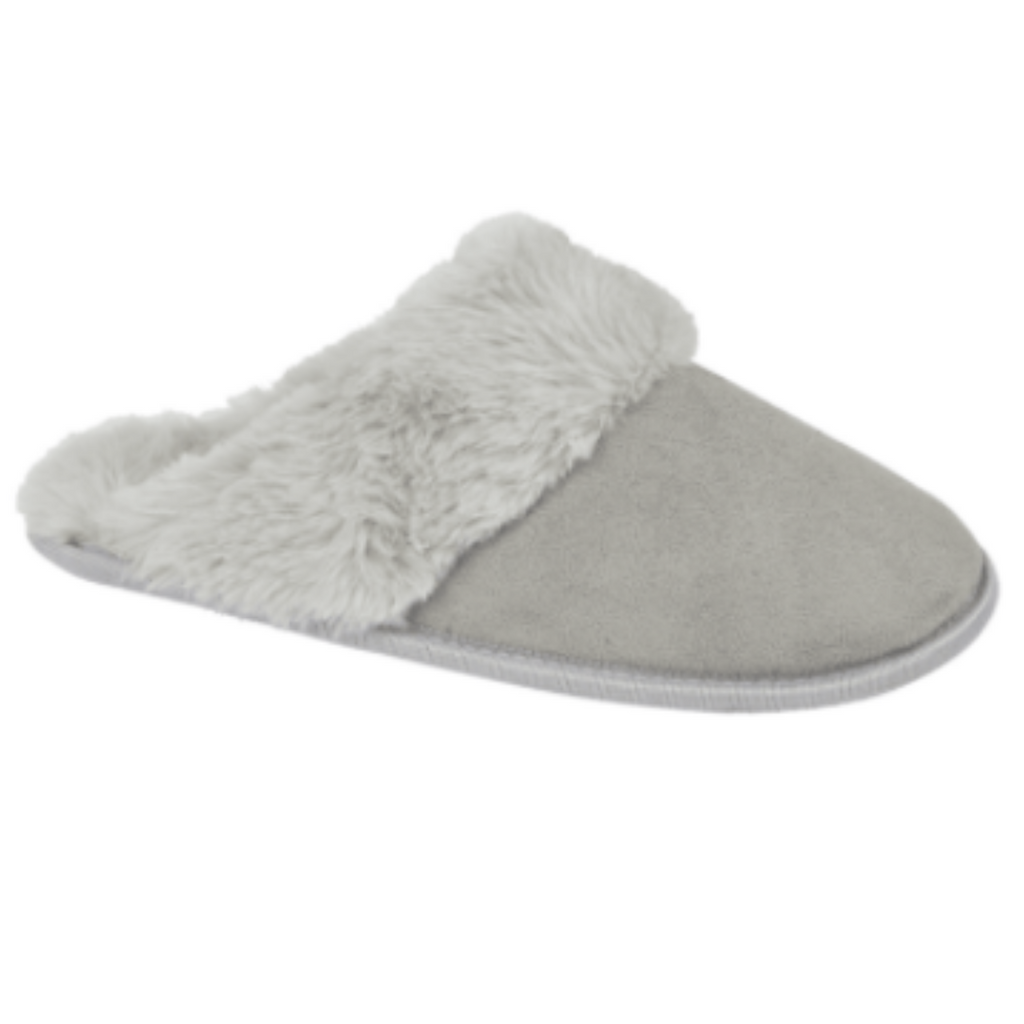 Bras & Honey Ladies Slippers Fenella, Grey