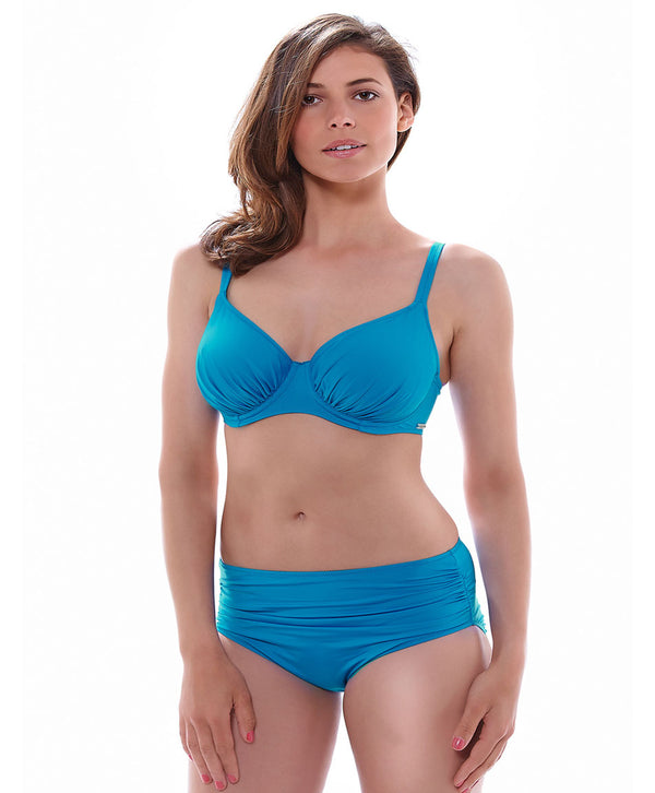 Fantasie Versailles Gathered Deep Brief Panties with Control Lining, China Blue
