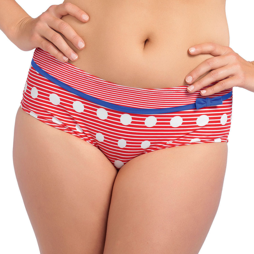 Freya Hello Sailor Boyshort, Red