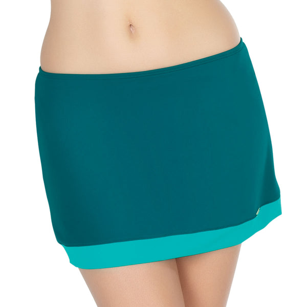 Panache Isobel Skirt Swim Brief, Emerald