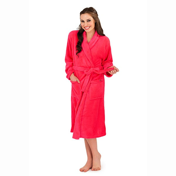 Women's Full Length Bathrobe, Fuchsia
