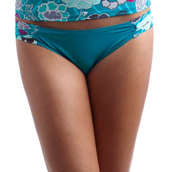 Panache Loren Gathered Bikini Swim Brief, Teal