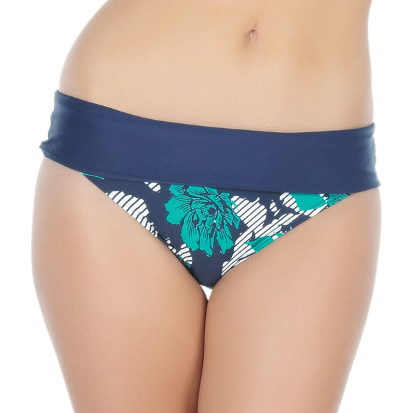 Panache Page Fold Swim Brief, Floral