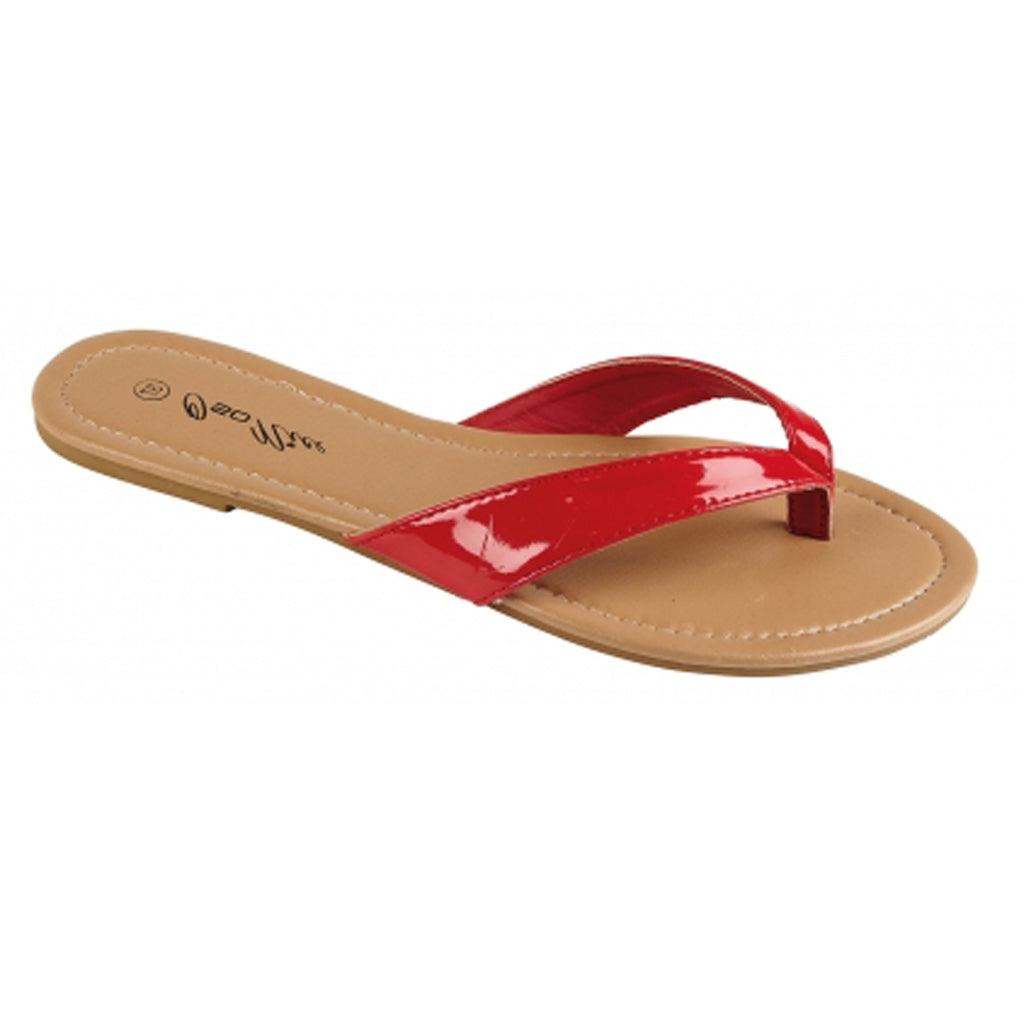 Summer Toepost Sandals, Red