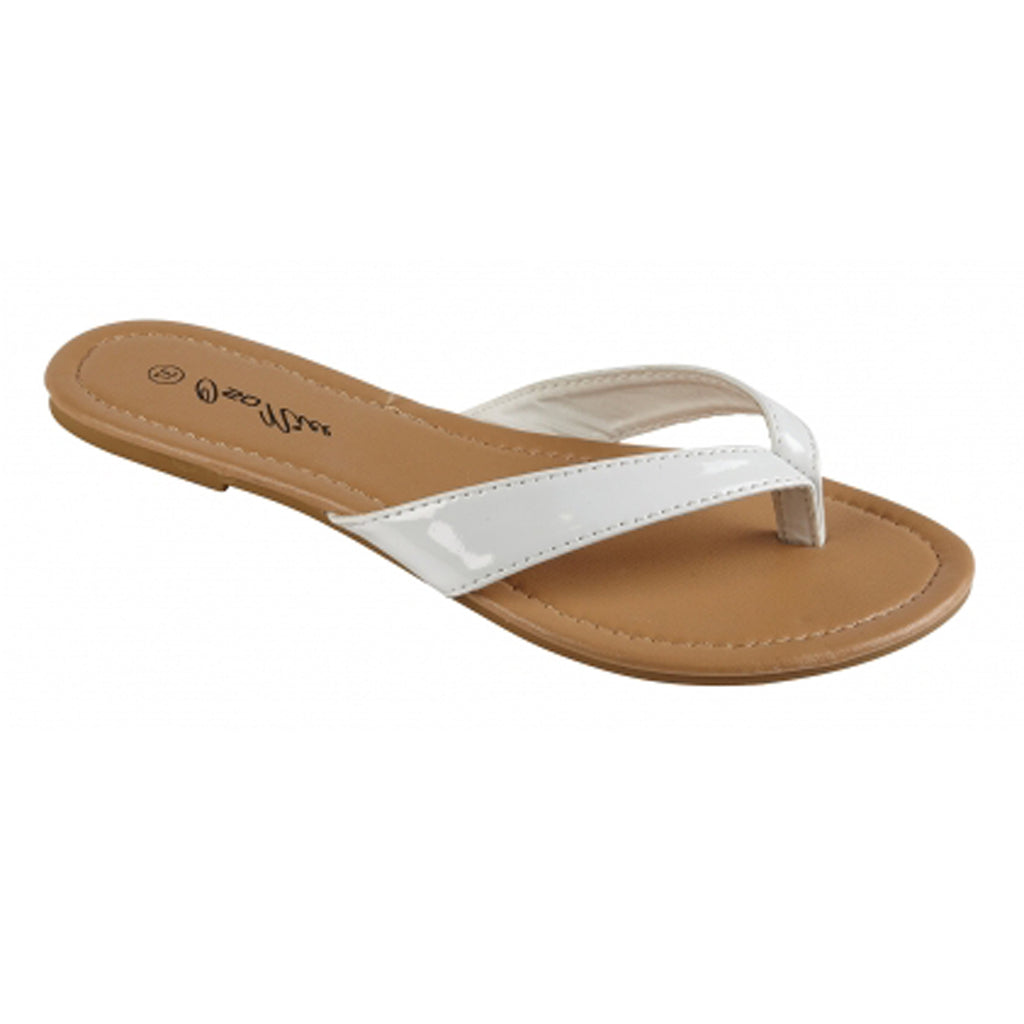 Summer Toepost Sandals,  White