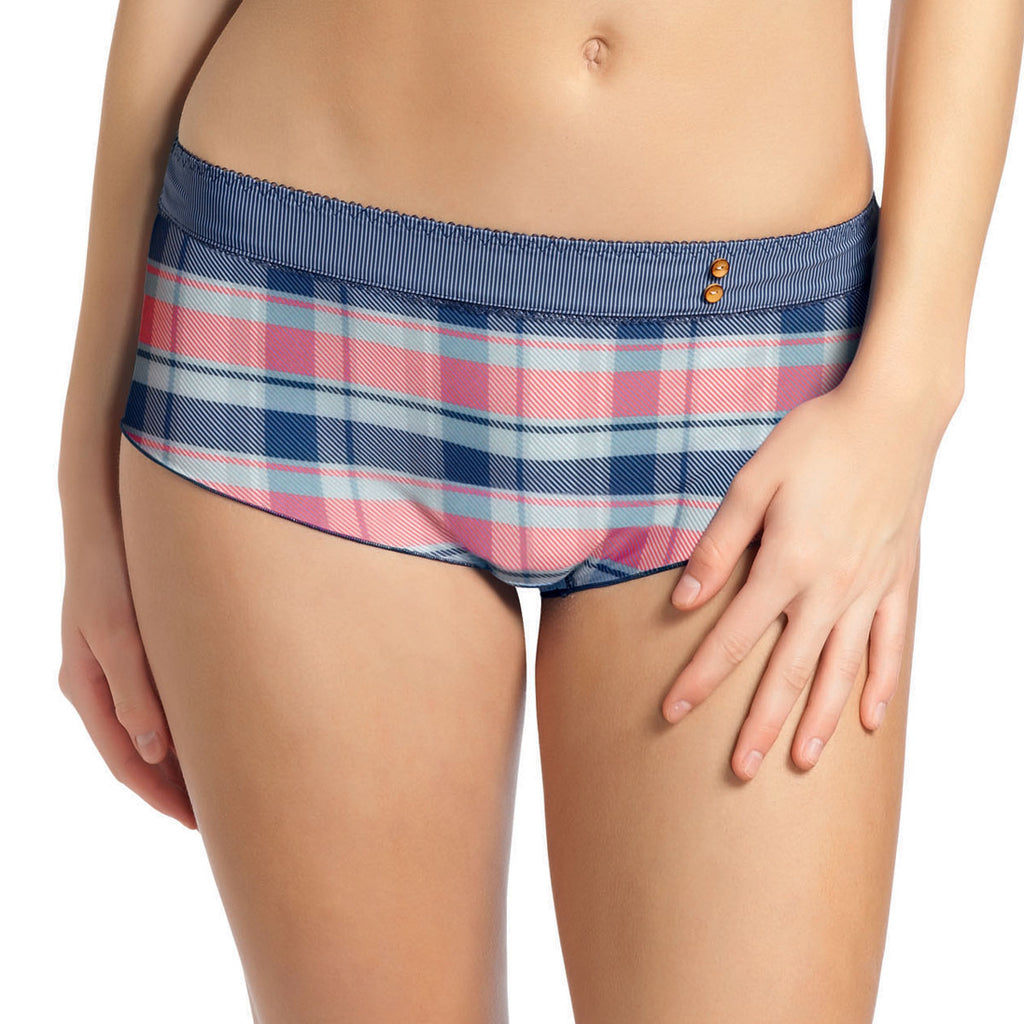 Freya Totally Tartan Boyshort, Denim
