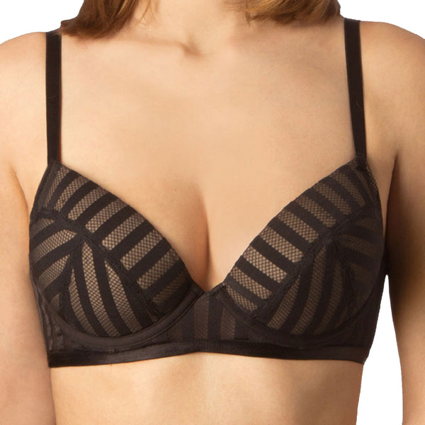 Wonderbra Linear Bra, Black