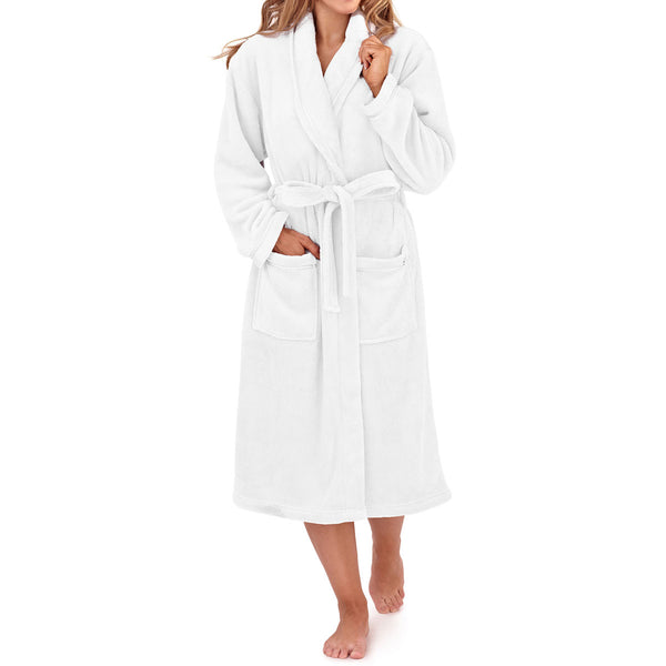 Women's Full Length Bathrobe, White