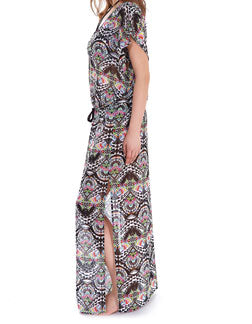 Freya Zodiac Plunge Neck Maxi Dress, Multi