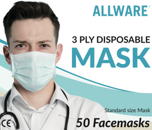 Load image into Gallery viewer, 3 Ply Disposable Masks (non-medical)