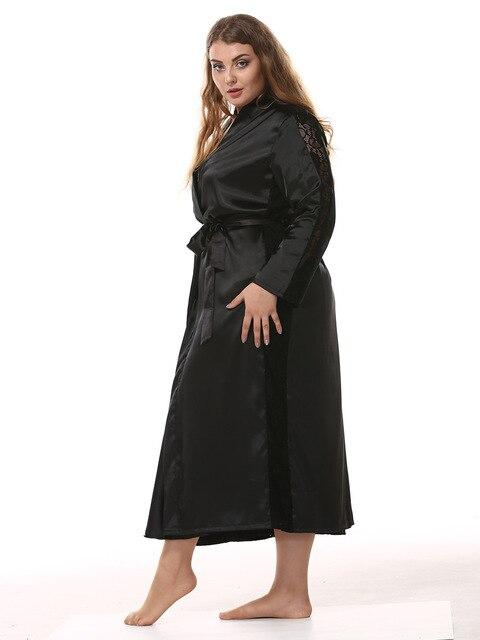 Simulation silk large size robe