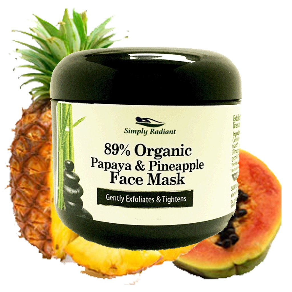 Organic Papaya and Pineapple Enzyme Face Mask – Hydrates, Tones,