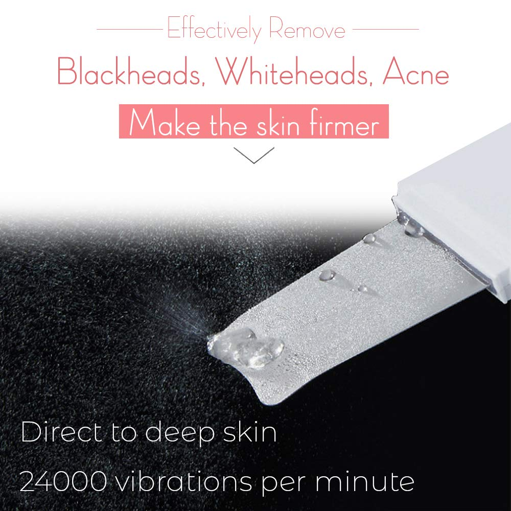 Deep Cleaning Skin Scrubber Ultrasonic Shovel Facial Pore Cleaner