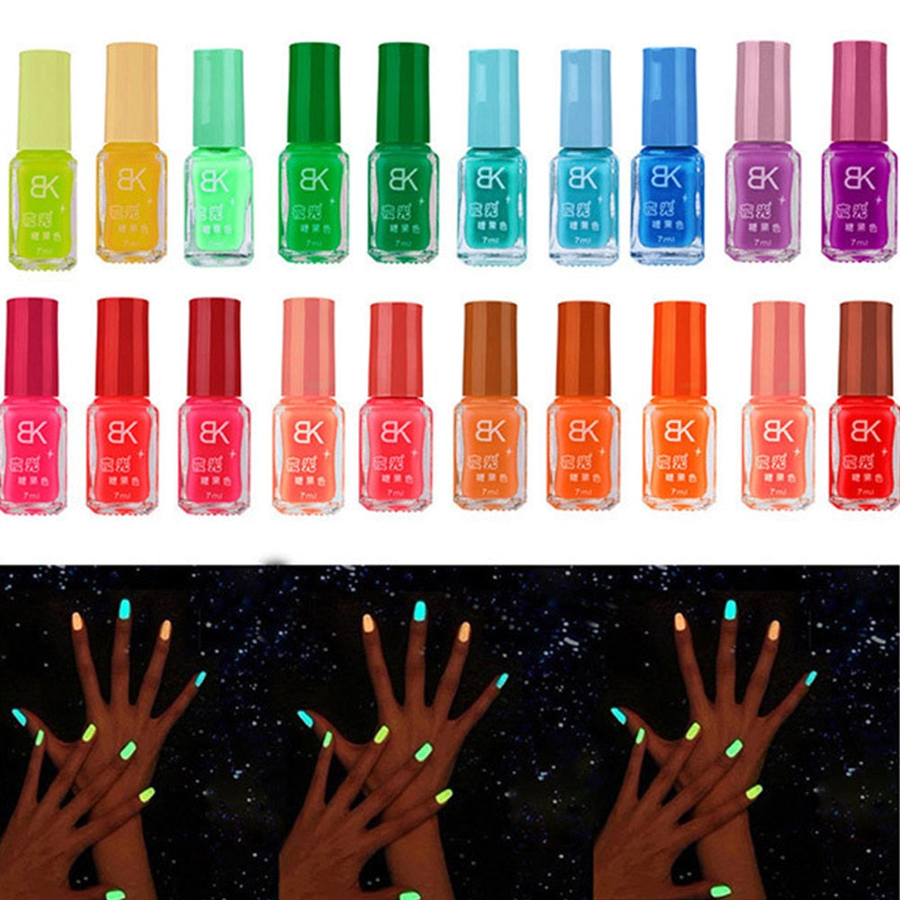 19 Colors Glow Dark Luminous Fluorescent Gel Nail Polish UV LED Gel Varnish Hybrid