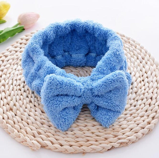 Cosmetic Soft Bowknot Elastic Hair Band