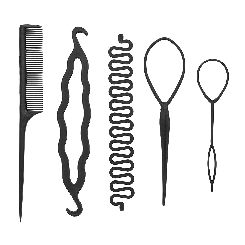 5PCS/Set Professional Hair Styling Accessories For Travel