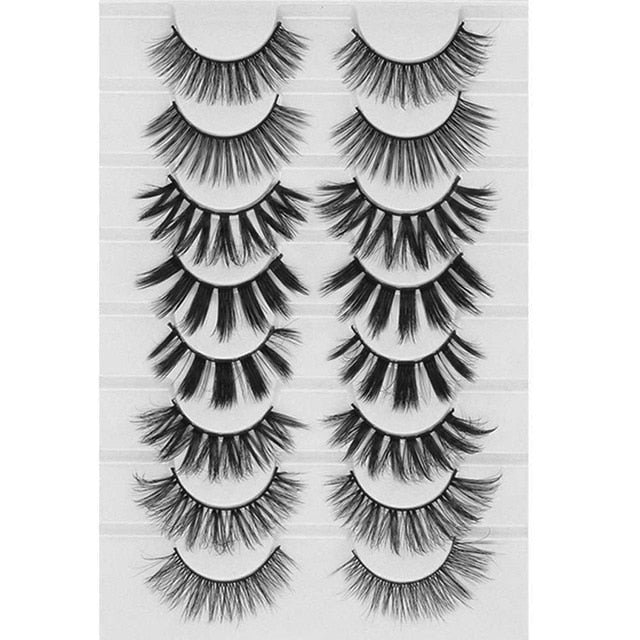 8 Pairs 3D Mink False Eyelashes