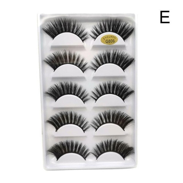 5 Pairs 3d Mink Lashes