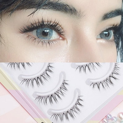 Yokpn Transparent Stem Eyelashes Glimmer Beginner W-7