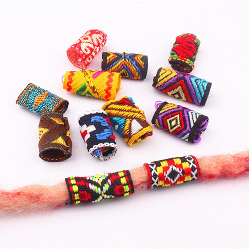 10Pcs/Lot mix Fabric rings tube approx 8-12mm