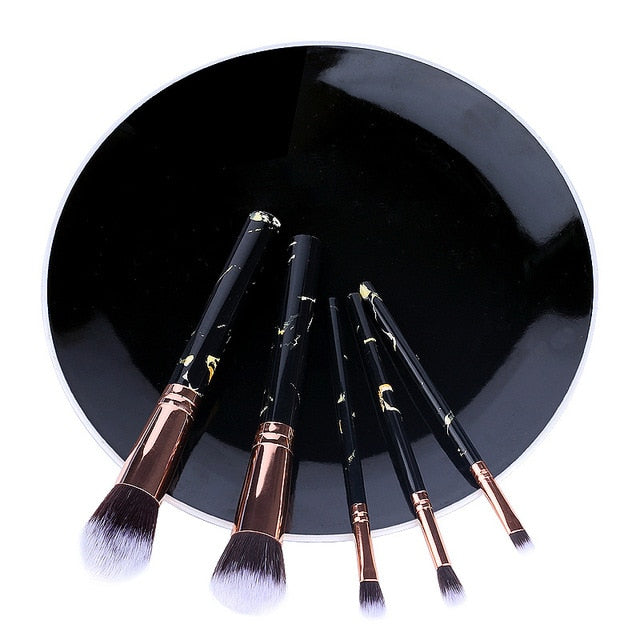 5pcs Soft Set Of Makeup Brushes Cosmetic Professional Kit