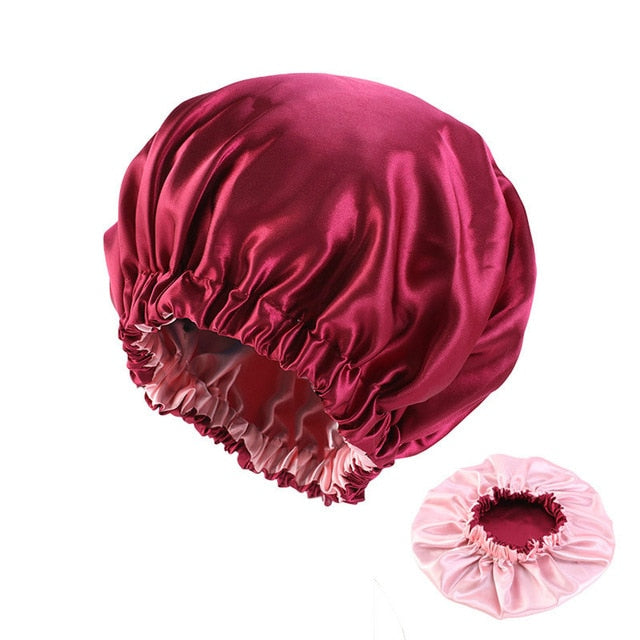 Large Satin Lined Bonnet/Night Cap Head Cover
