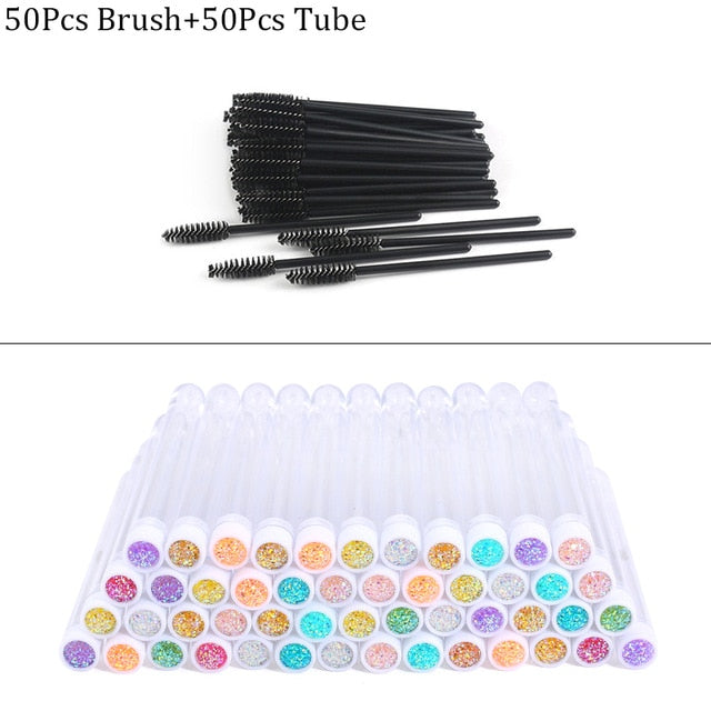 Reusable Eyebrow Brushes in Decorative Case