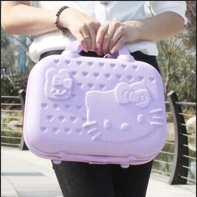 HELLO KITTY  Cosmetic Case 14 Inch Makeup Beauty Jewelry Box