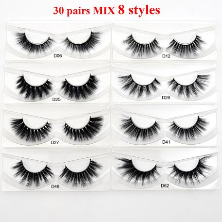 30Pairs Visofree 3D Mink Hair False Eyelashes Vegan