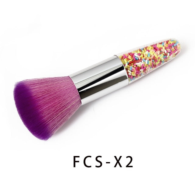 4 type Mermaid Nail Cleaning Powder Brush/Makeup Brush