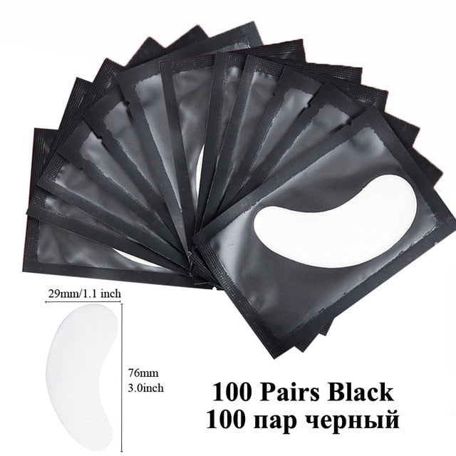 100pairs Eyelash Extension Paper Patches Grafted Eye Stickers