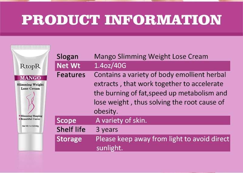 Mango Anti Cellulite Weight Loss Cream