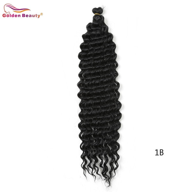 22inch-28inch Long Deep Wave Twist Crochet Hair Golden Beauty