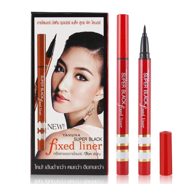 1PC Professional Women Ultimate Black Liquid Quick-dry Eye Liner Pen