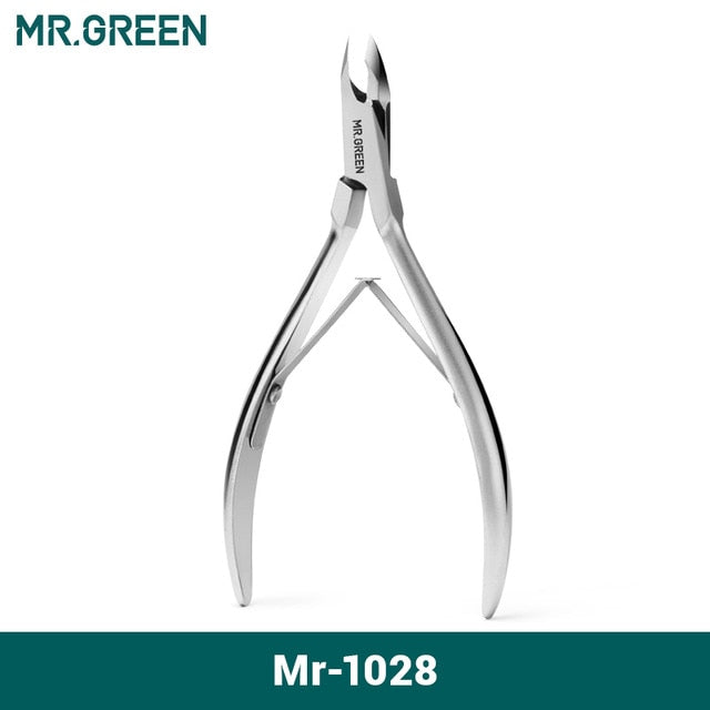 MR.GREEN Cuticle Nippers Nail Manicure Scissors Stainless Steel Cutters Tool