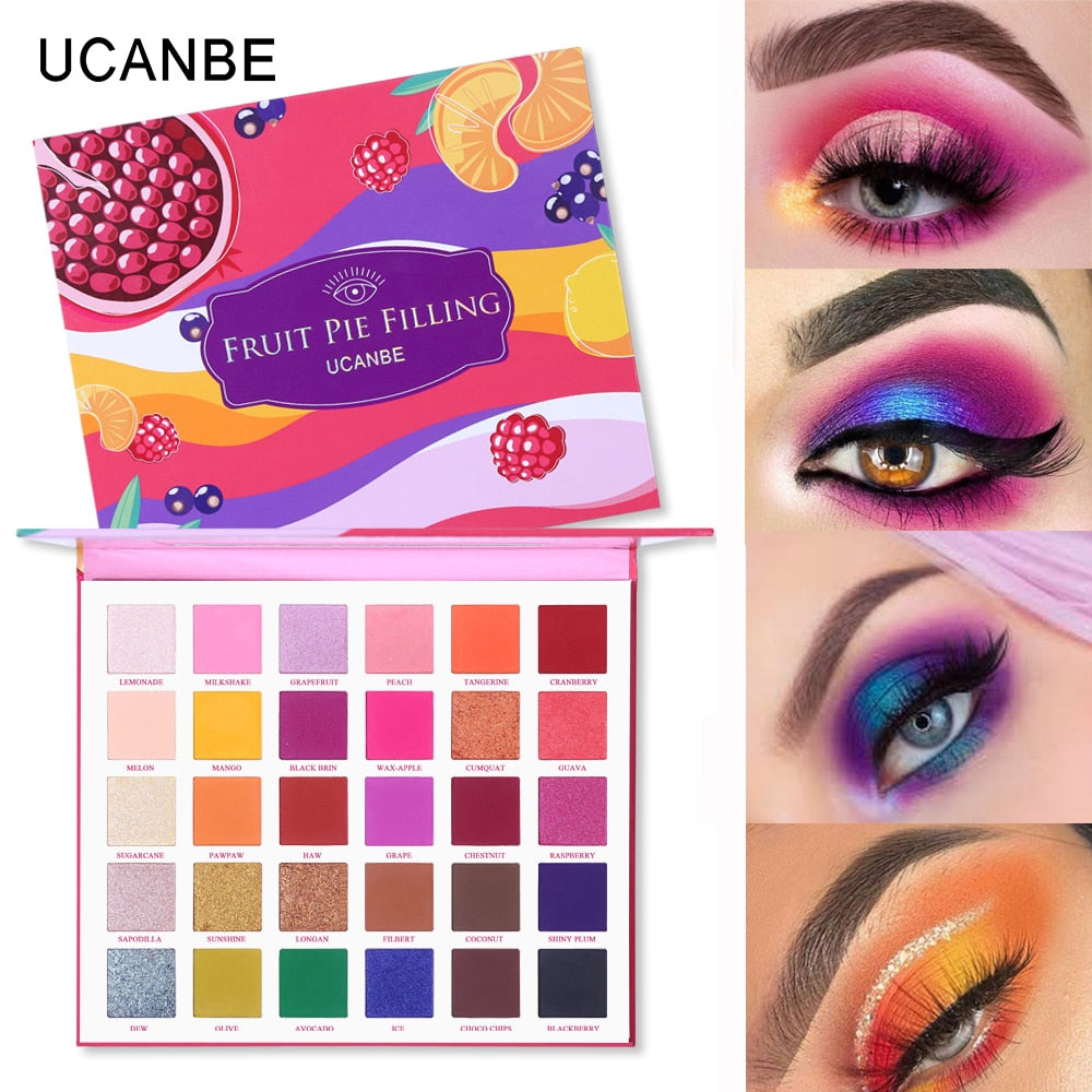 UCANBE 30 Colors Fruit Pie Filling Eye Shadow Palette