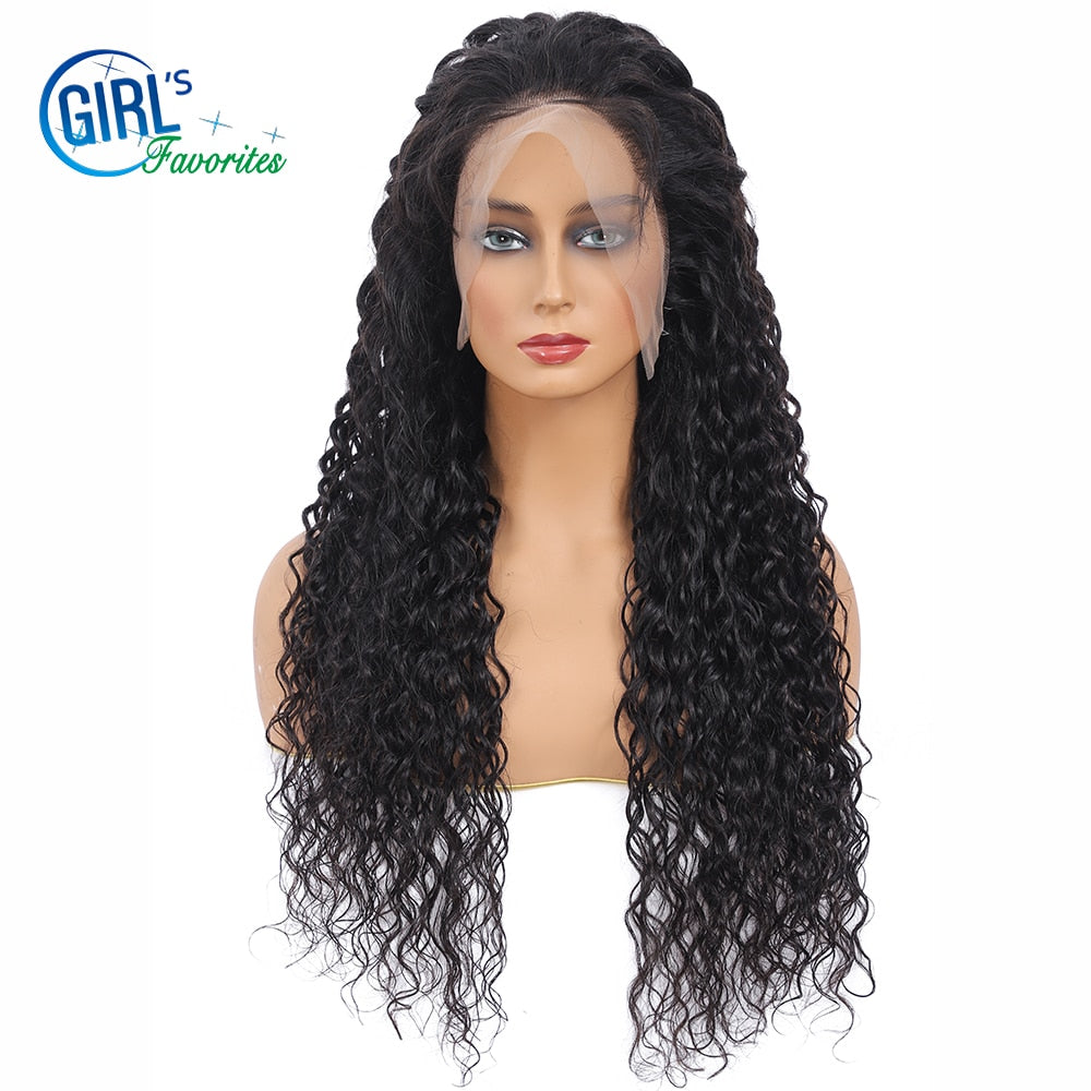 Glueless Mink Brazillian Lace Frontal Wig 180% Density Human Hair