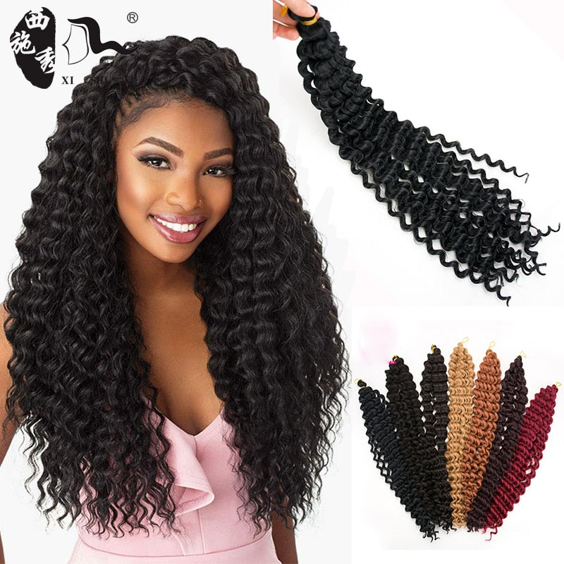 Synthetic Freetress Water Wave Crochet  Braiding 20 inch 80g per piece Hair