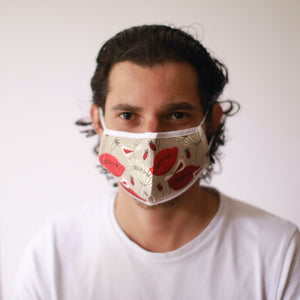 Oriental Poppies - Reusable Face Mask (Adults)